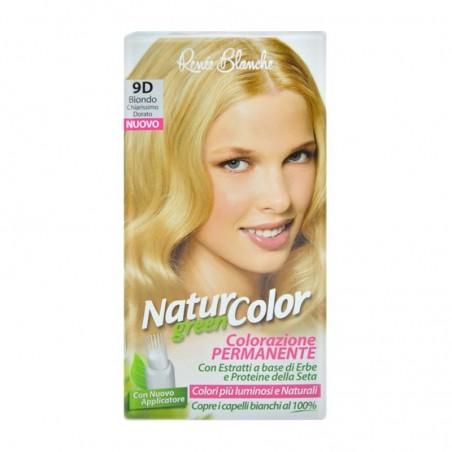 Renee Blanche - Tinta Per Capelli Colorazione Permanente Naturale Natur  Color green9 D Biondo Chiarissimo Dorato 864e2af74a9c