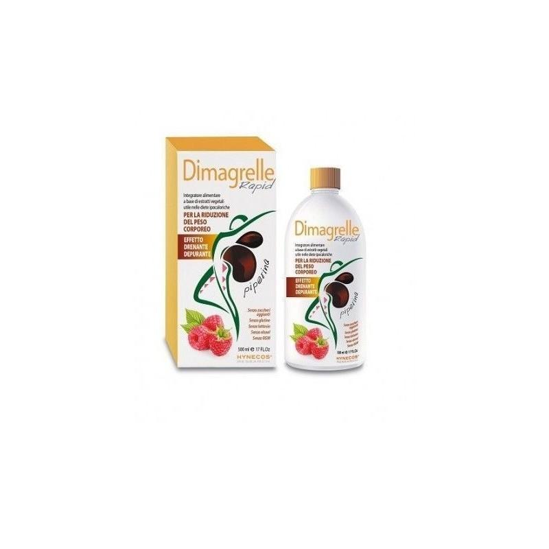 ALCKA MED - dimagrelle rapid piperina - integratore alimentare per la riduzione del peso corporeo 500 mg