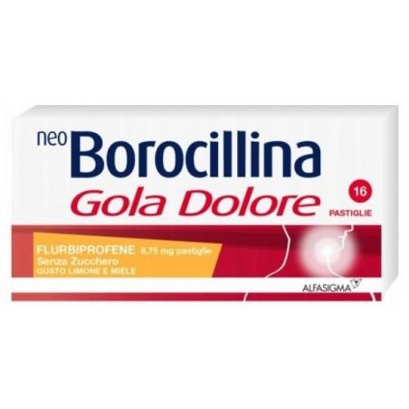 ALFASIGMA - Neoborocillina gola e dolore gusto limone e miele 16 pastiglie