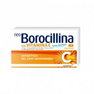 neoborocillina con vitamina c - antisettico del cavo orofaringeo 16 pastiglie