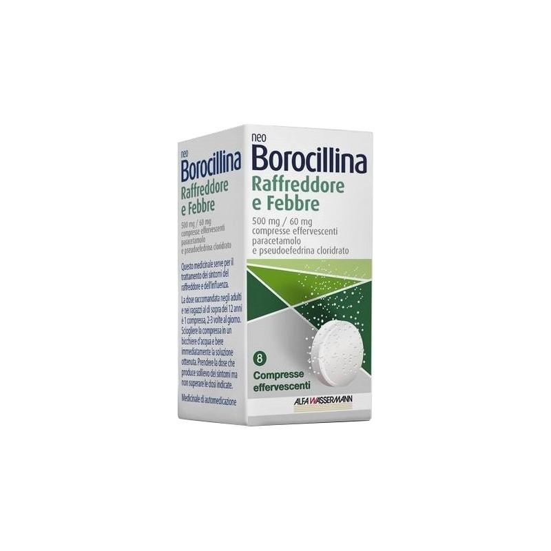 ALFASIGMA - neoborocillina raffreddore e febbre 8 compresse effervescenti