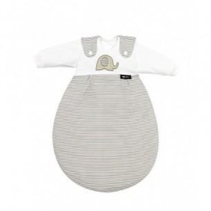 Baby-Mäxchen - Sacco Nanna 3 pezzi Elefantino beige misura 0-2 mesi
