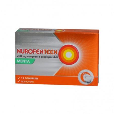 RECKITT BENCKISER - NurofenTeen 200 Mg - Analgesico Antinfiammatorio menta 12 Compresse Orodispersibili