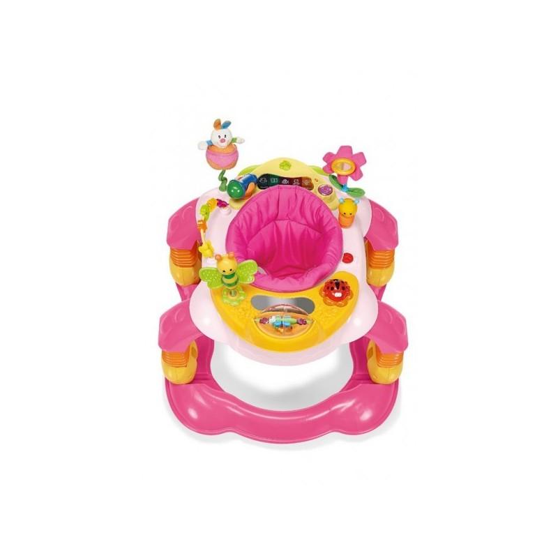 Brevi - girello per bambini giocagiro 3 in 1 rosa