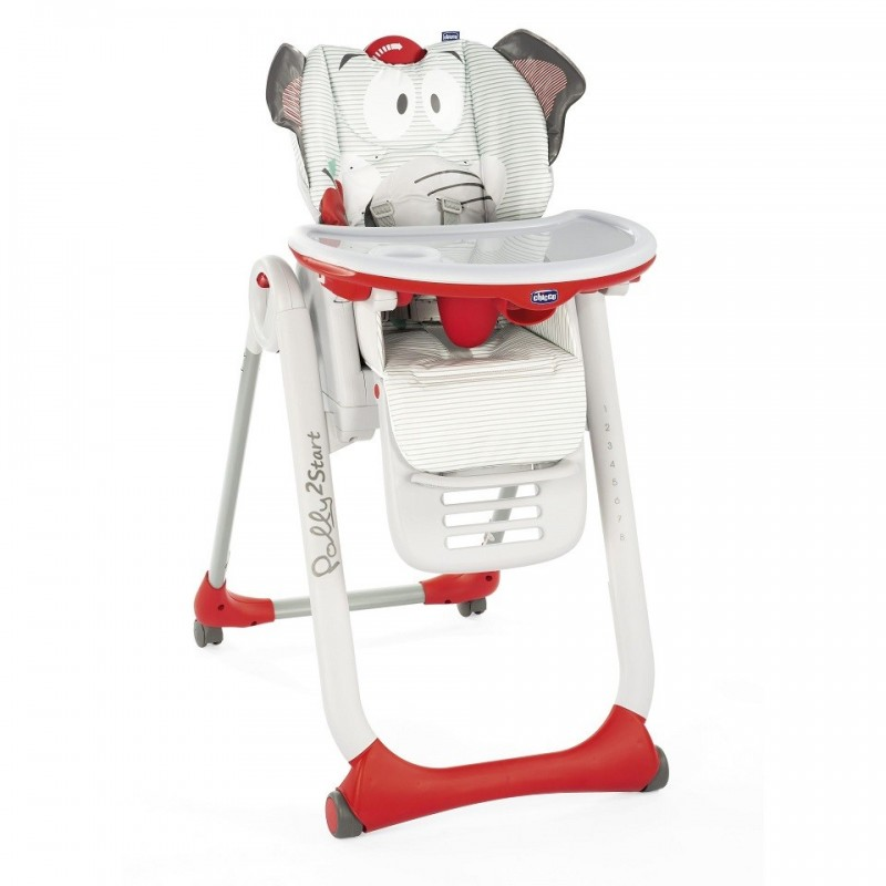 Chicco - Polly 2 Start - seggiolone 4 ruote Baby Elephant