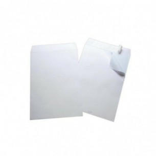 500 Buste A Sacco Con Strip 23x33 Cm 80 G - Bianco