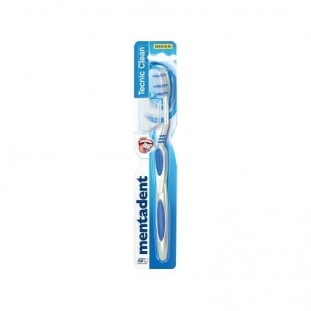 Mentadent - tecnic clean - spazzolino da denti con setole medie