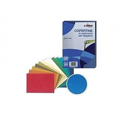 ALEVAR - Copertine Effetto Pelle A4 colore Rosso Confezione 100 pezzi