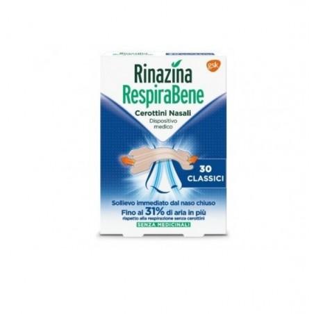 GSK - Rinazina Respirabene - 30 Cerotti Nasali classici