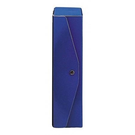 BREFIOCART - 5 Cartelle Portaprogetti con Bottoni in Presspan 35 x 25 x 6 cm - Blu Scuro