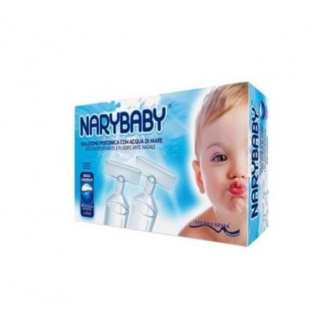 Sterilfarma - Nary Baby - Soluzione Ipertonica per l'igiene nasale 15 Flaconcini Monodose