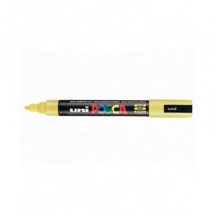 Uni Posca - 12 marcatori punta spessa larghezza tratto 18 - 25 mm colore giallo