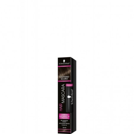 Testanera - Schwarzkopf Hair mascara - copertura temporanea per capelli - castano scuro