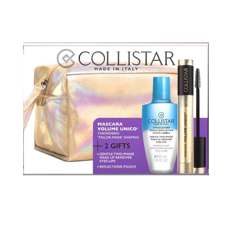 COLLISTAR - Cofanetto regalo Mascara volume unico nero + struccante bifase 50ml + pochette