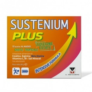 sustenium plus edizione estate gusto tropicale - integratore multivitaminico12 bustine