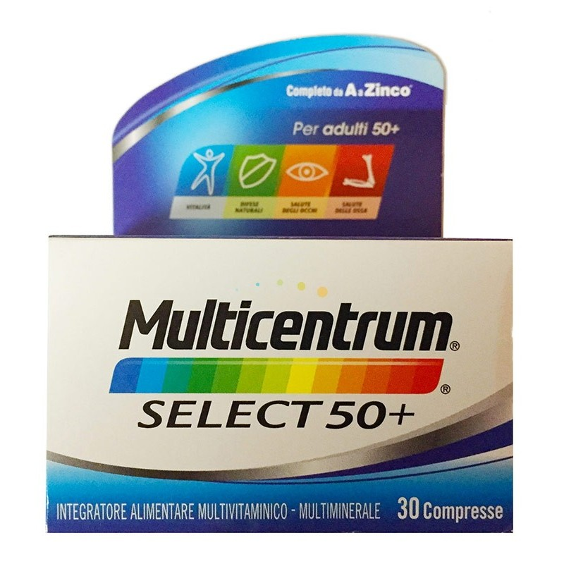 Multicentrum - Select 50+ - 30 compresse integratore di vitamine e minerali