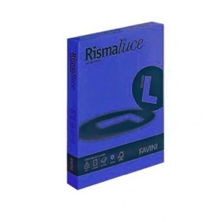 FAVINI - Rismaluce - cartoncino colorato A4 Blu Prussia 125 fogli