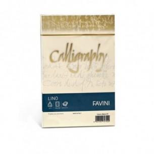 Calligraphy lino - colore avorio confezione 25 buste 120g