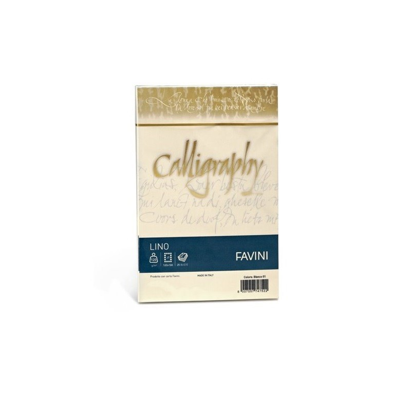 FAVINI - Calligraphy lino - colore avorio confezione 25 buste 120g