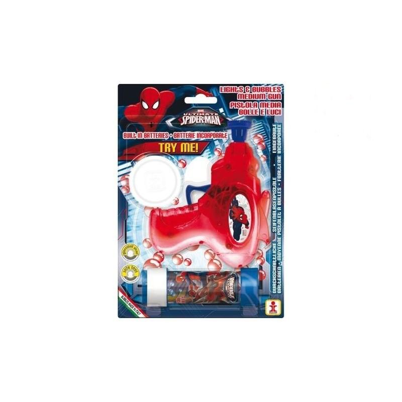 DULCOP - Spiderman - Pistola bolle di sapone e luci Con Ricarica