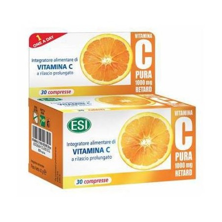 ESI - Vitamina C pura 1000 mg - integratore a base di vitamine e minerali