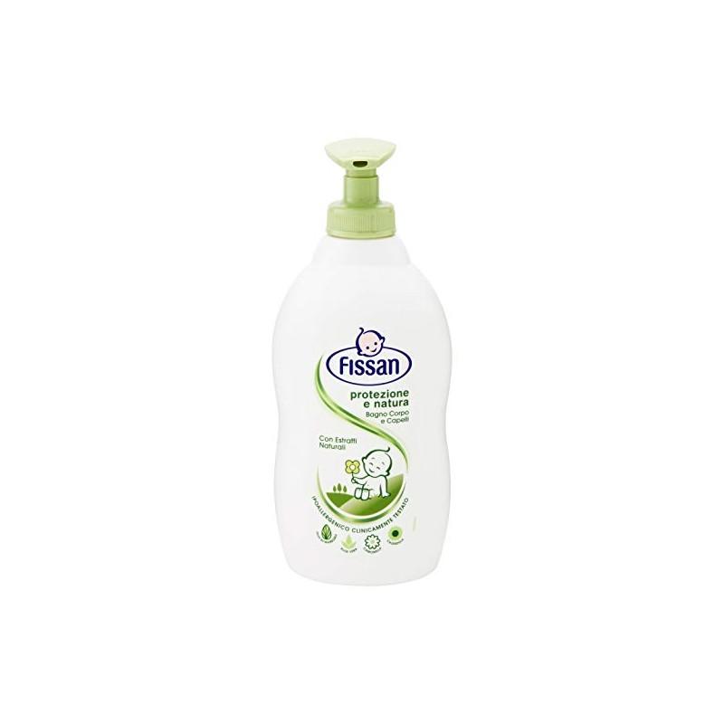 FISSAN - bagnoschiuma per bambino corpo e capelli con estratti naturali baby protezione e natura 400 ml