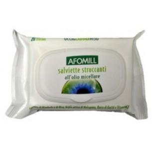 afomill- 20 salviette struccanti con olio micellare
