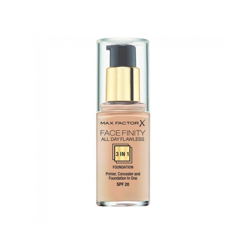 MAX FACTOR - Faceinfinity All Day Flawless 3 in 1 - Fondotinta n.45 warm almond
