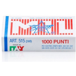 Punti metallici per cucitrici 515 24/6 - 10 scatole da 1000 punti