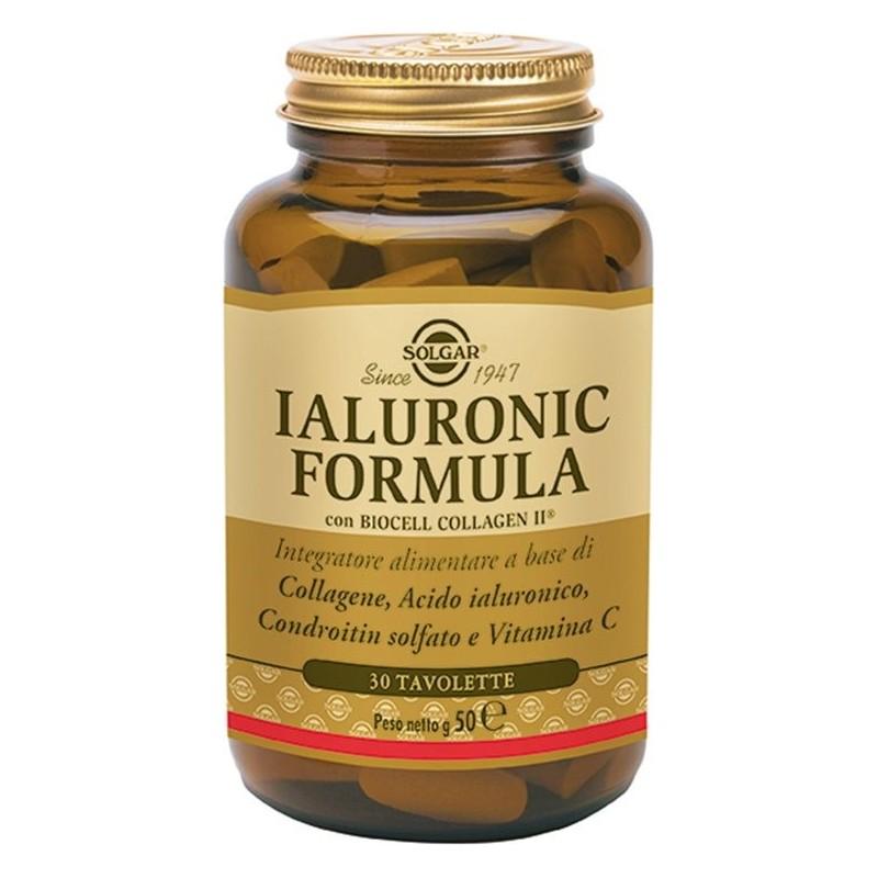 SOLGAR - Ialuronic Formula Integratore utile per l'elasticità della pelle 30 Tavolette