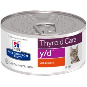 prescription diet  y/d feline thyroid care - gusto pollo 24 scatolette da 156g