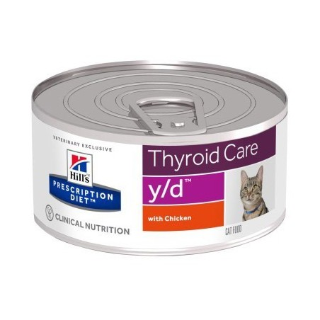 Hill S - prescription diet  y/d feline thyroid care - gusto pollo 24 scatolette da 156g