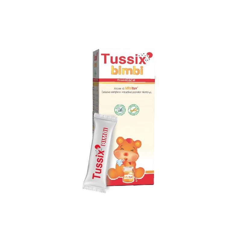 LABORATORI NUTRIPHYT - Tussix bimbi 15 stick - integratore alimentare per le vie respiratorie