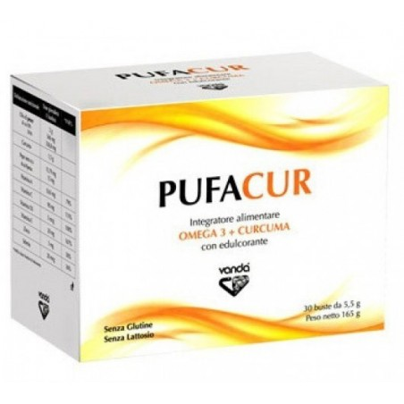 VANDA OMEOPATICI - pufacur - integratore di omega 3 + curcuma 30 bustine