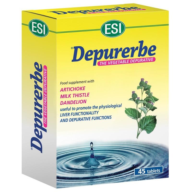 ESI - Depurerbe 45 ovalette - integratore alimentare per la funzionalità epatica