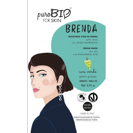 Purobio - Brenda Maschera viso in crema per Pelle Secca profumazione uva