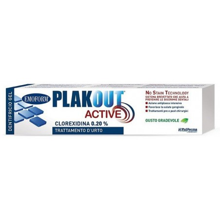 POLIFARMA - Plak Out Active 0,20% Dentifricio 75 ml