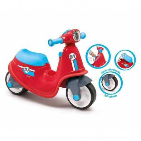 SMOBY - Scooter Boy Cavalcabile rosso 18 m+