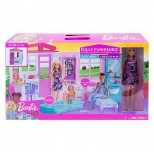 Il loft di Barbie - casa portatile con bambola e accessori