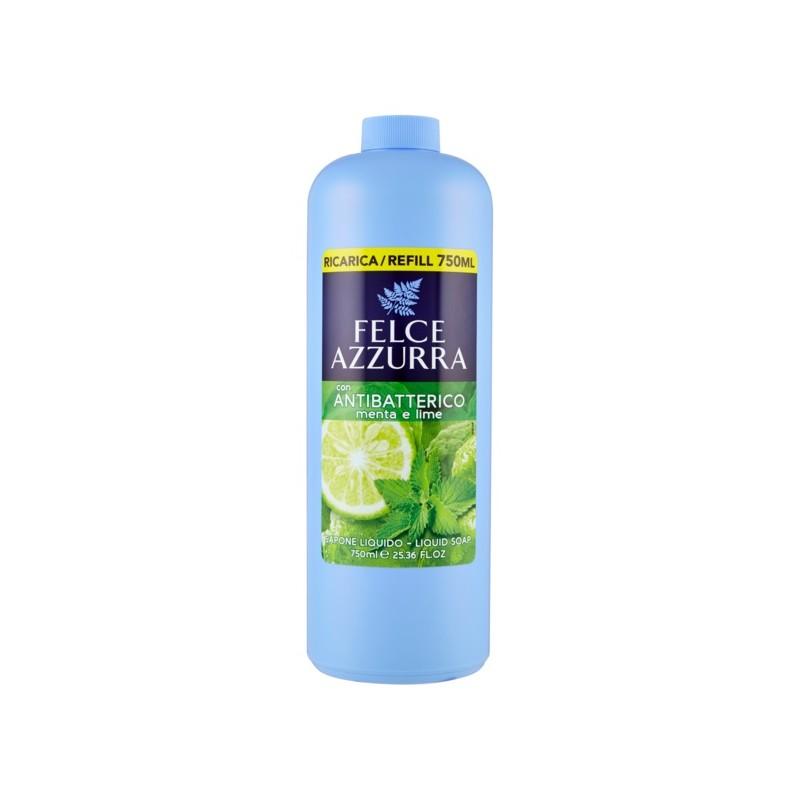 FELCE AZZURRA - sapone liquido antibatterico menta e lime ricarica 750 ml