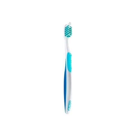 spazzolino da denti manuale crossaction antiplacca setole medie 35mm colori assortiti