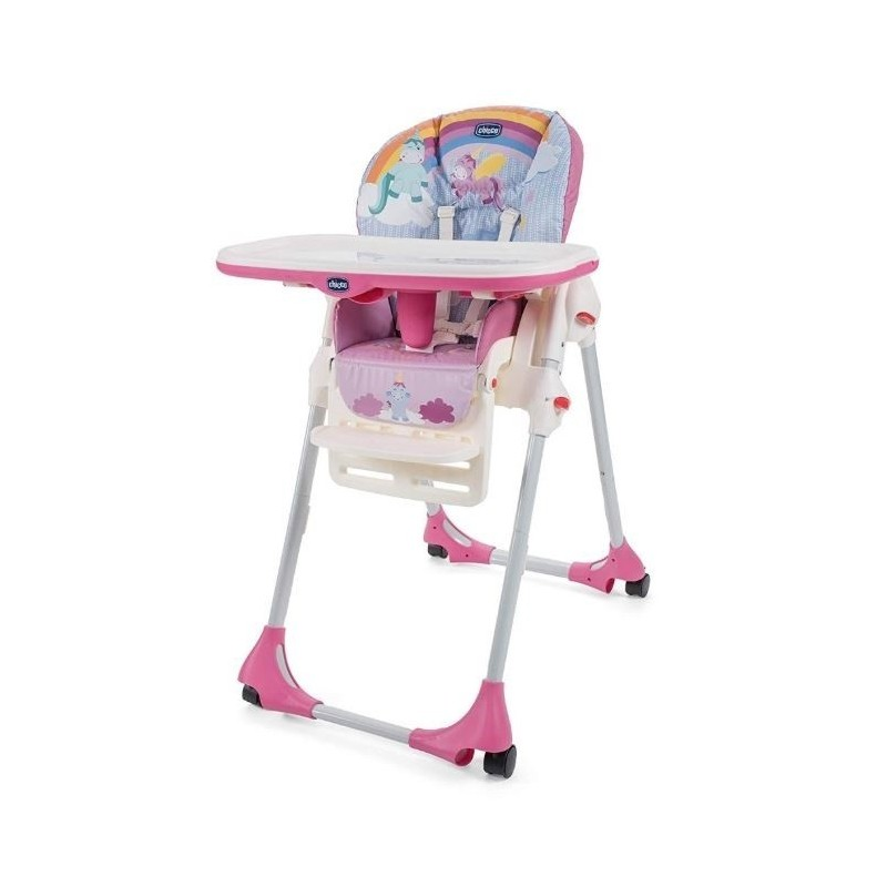 Chicco - Polly Easy - Seggiolone pappa Unicorn