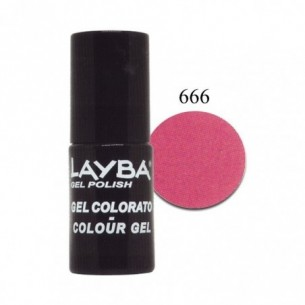 Layba Gel Polish - Smalto semipermanente n. 666 fanatic