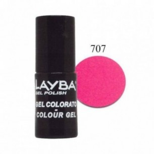 Layba Gel Polish - Smalto semipermanente n. 707 pink fluo