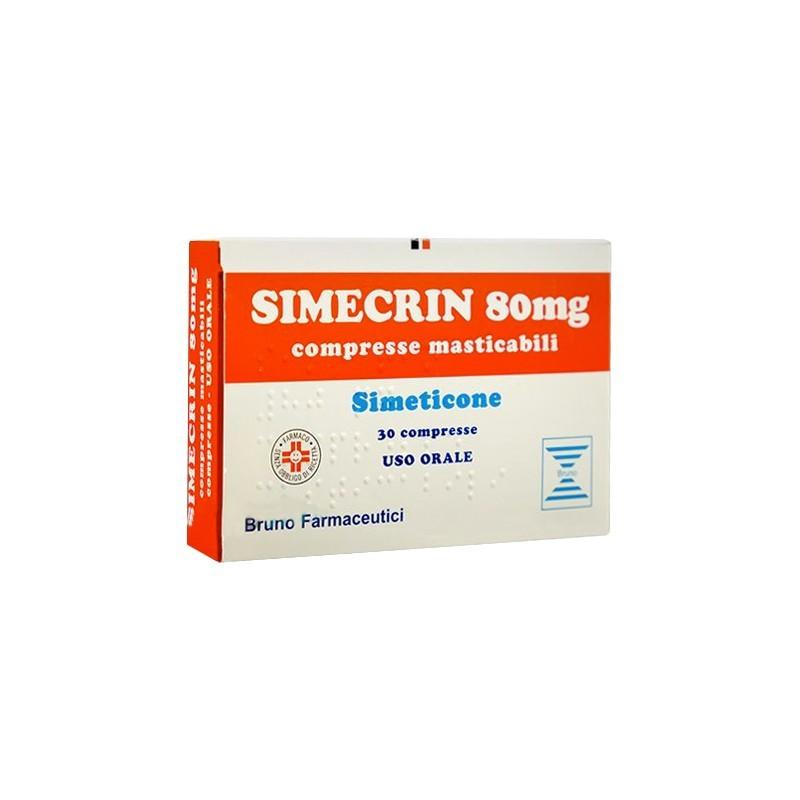 Simecrin 80 mg - contrasta gonfiore addominale e meteorismo 30 compresse masticabili
