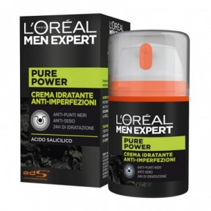 Men Expert Pure Power Crema Viso Idratante Anti-Imperfezioni 50 ml