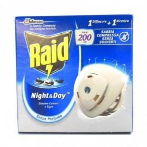 Night & Day Zanzare comuni e tigre 1 diffusore 1 ricarica