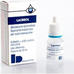 Lacrisol Collirio - disinfezione della mucosa oculare 10 ml
