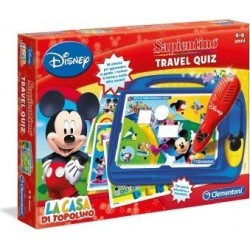 sapientino travel  quiz topolino gioco educativo 4-6 anni