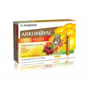 Arkoroyal Royal Fruits 20 fiale 15ml - Integratore con pappa reale